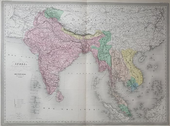 India, Indochina; A Pilon - Indes, Colonies Anglaises - ca. 1870