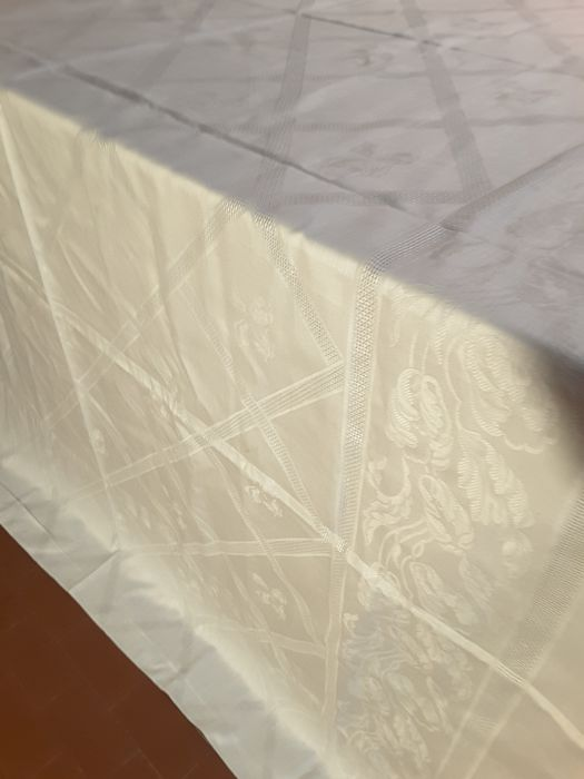 tablecloth with napkins (13) - Flax Flanders - 1960/1970