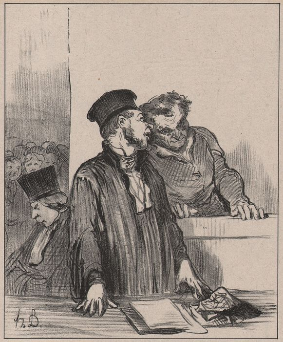 Honoré Daumier (1808 - 1879) - Les Gens de Justice - Hear the prosecutor who says very bad things