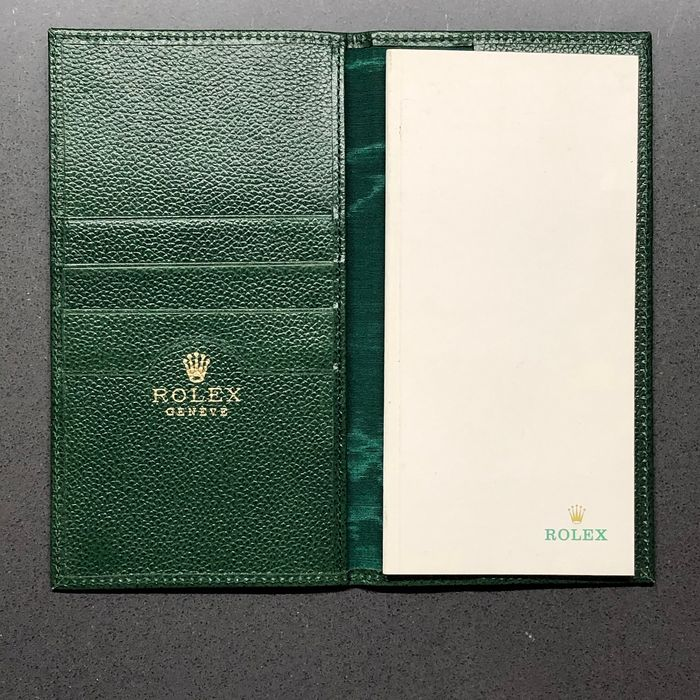 Rolex - Rolex Green leather credit card holder / notes  - 70.06.02 - Unisex - 1950-1959