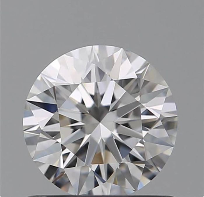 1 pcs Diamant - 0.58 ct - Brillant - F - IF (makellos)