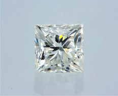 1 pcs Diamante - 0.52 ct - Princesa - G - SI1