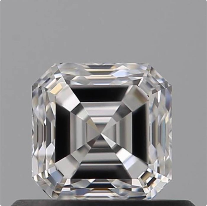 Diamond - 0.52 ct - Square Emerald - D (colourless) - VVS1