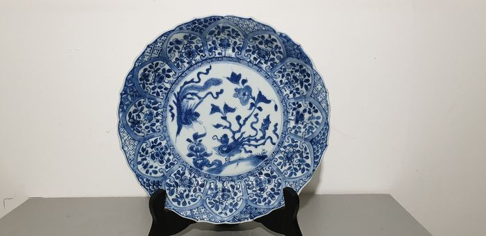 Plate - Blue and white - Porcelain - grande assiette - China - Kangxi (1662-1722)