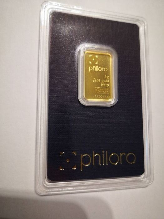 5 grammes - Or .999 (24 carats) - Philoro Edelmetalle - Seal + certificat