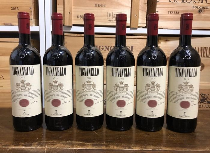 2016 Marchesi Antinori Tignanello - Super Tuscans - 6 Botellas (0,75 L)