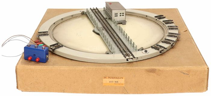 Märklin H0 - 410 NG - Attachments - Turntable with 10 connections