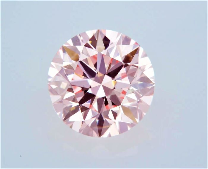 1 pcs Diamant - 1.50 ct - Rund - fancy intens pink - VVS1, GIA CERTIFIED