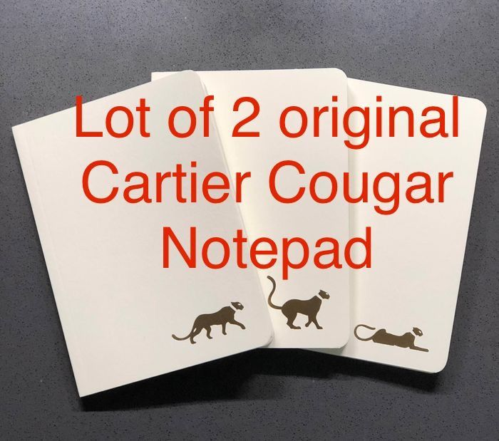 Cartier - Lot of 2 Sets of 3 (each set) Rare Cougars Notepads - Unisex - 2011-present
