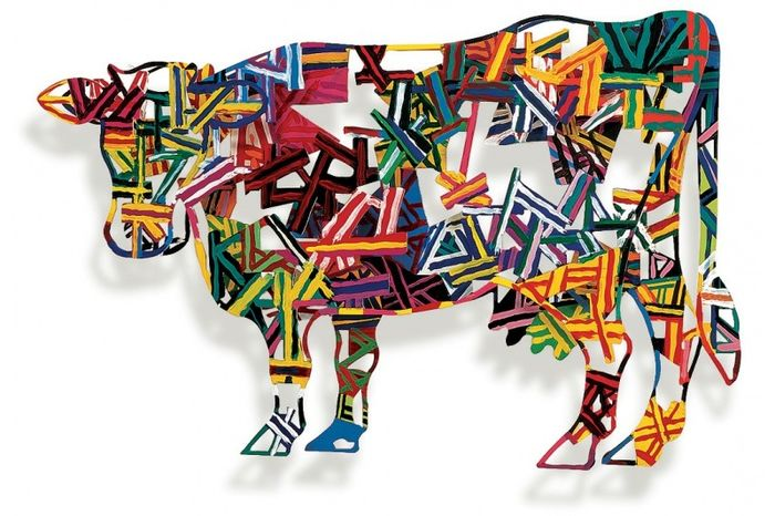 "David Gerstein - 2 layers Wall Sculptures  "" Constructive cow """