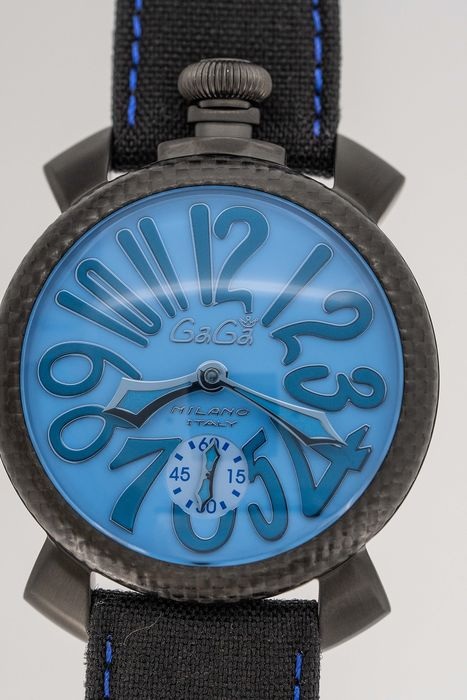 GaGà Milano - Mechanical Limited Edition Carbon Manuale 48MM Blue  Swiss Made - 5021 - Unissexo - BRAND NEW