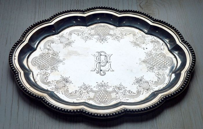 Tray - .800 silver - Europe - Late 19th century
