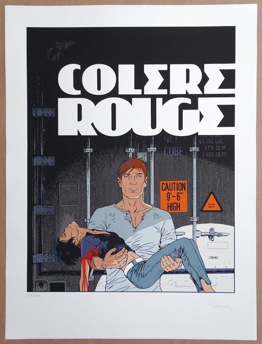 Largo Winch - Sérigraphie - Colère Rouge