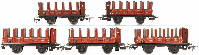 Märklin H0 - 372 - Freight carriage - 5 stake wagons