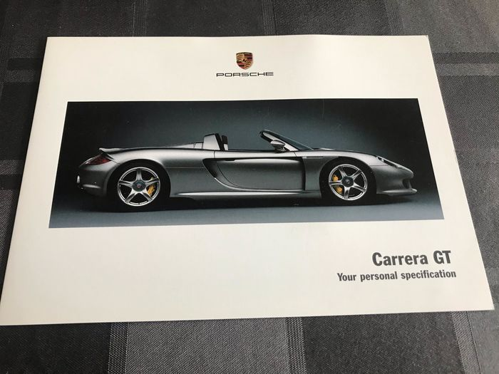 Brochures / catalogues - Porsche - Porsche Carrera GT 980 your personal specification folder GB  - 2003-2004