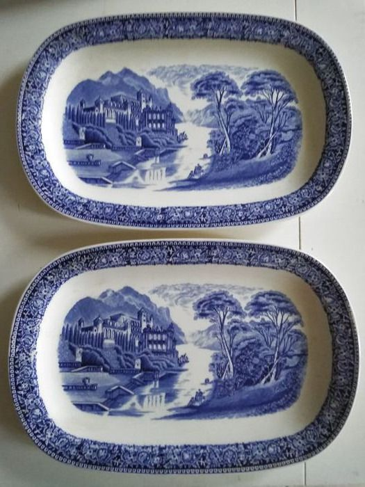 Pair - Serving dishes - Royal Sphinx Maastricht Holland - Old England Cambridge