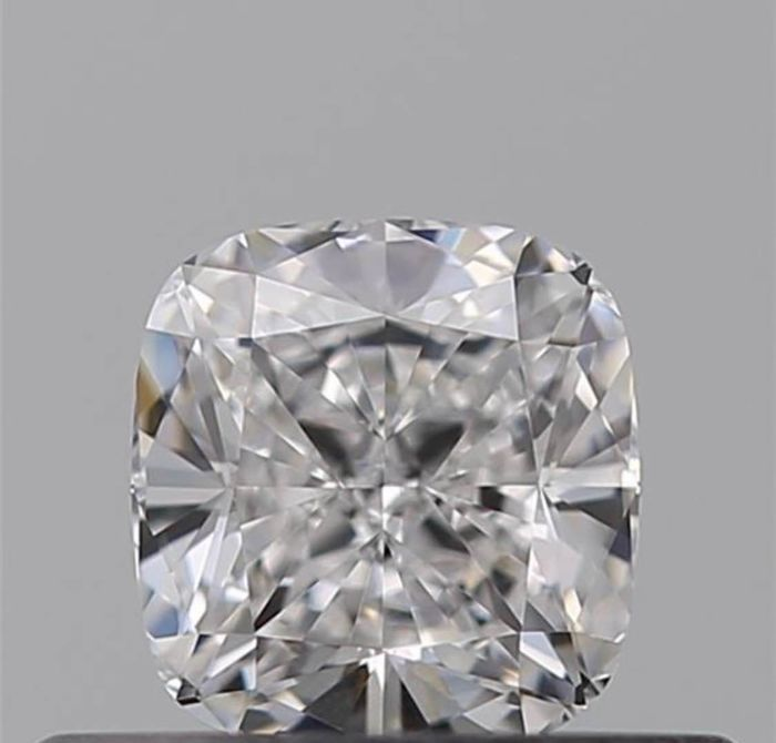1 pcs Diamond - 0.55 ct - Cushion - D (colourless) - VVS1 No Reserve