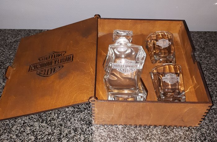 Whiskey set Harley Davidson - 1980