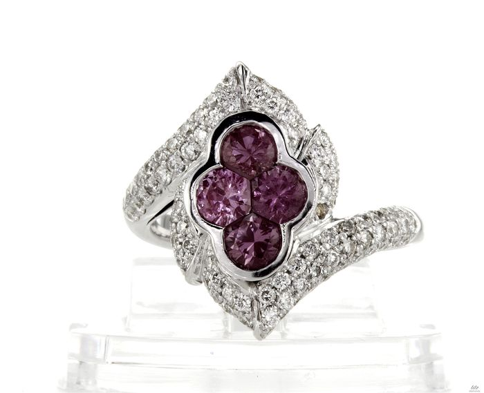 18 kt. White gold - Ring - 2.51 ct Amethyst
