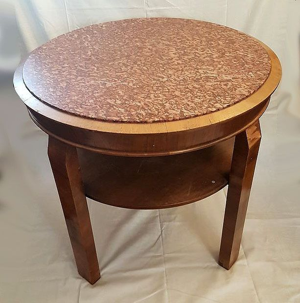 Table - Marble, Wood