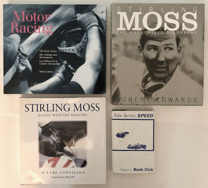 Bücher - 4 excellent books about Stirling Moss, John Surtees and early years or motor racing - 1963-2014