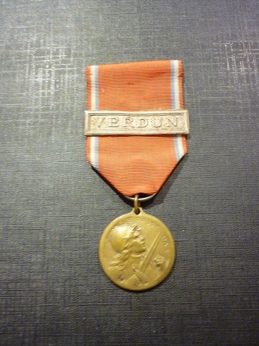 France - Rare medal of the battle of Verdun with bar of origin Elite (A10N) - Medal - 1918
