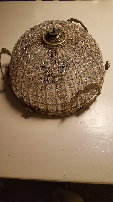 beautiful old ceiling lamp - Brass