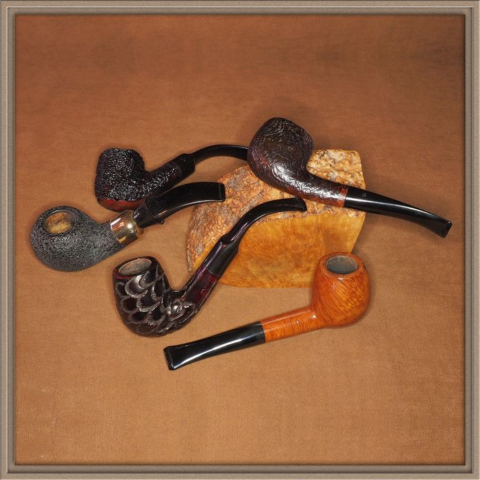 Stanwell, Brebbia, Barling - 5 interesting tobacco pipes in very good condition