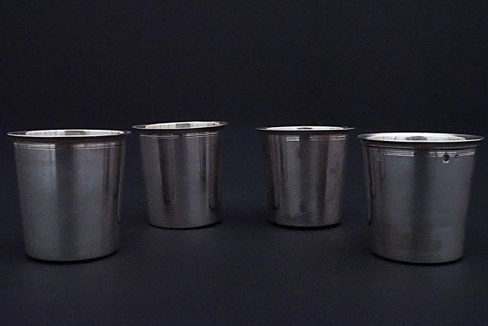 Cups (4) - .950 silver - France - First half 19th century