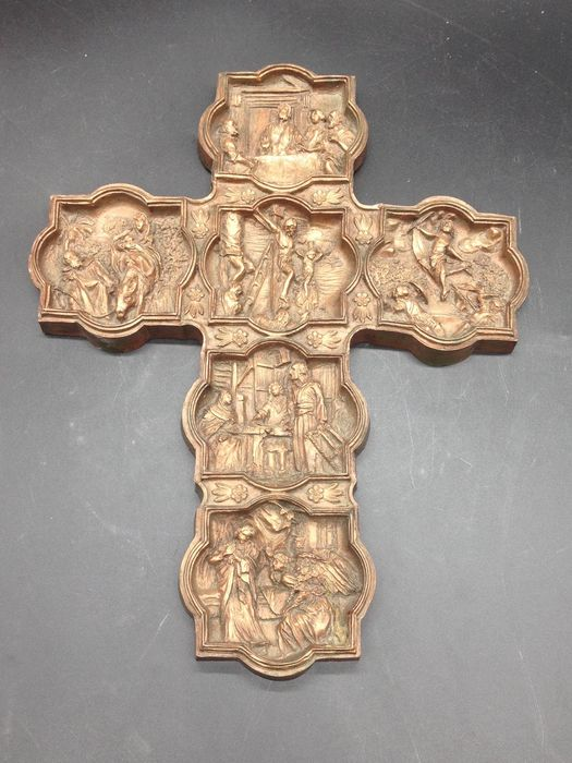 Crucifix with images of the life of Christ