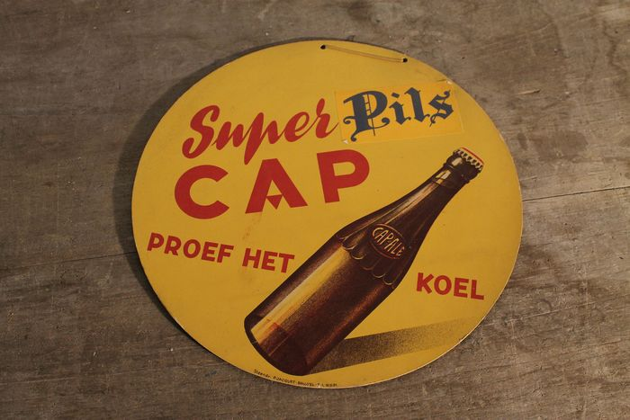 1950s-rare advertising CAP-ALE Merchtem - cardboard