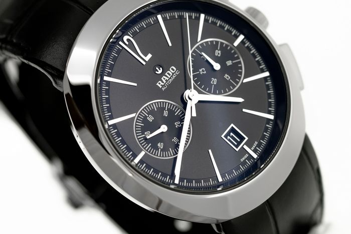 Rado - Automatic Chronograph D-Star Plasma with Leather Strap - R15198155 - Homme - BRAND NEW