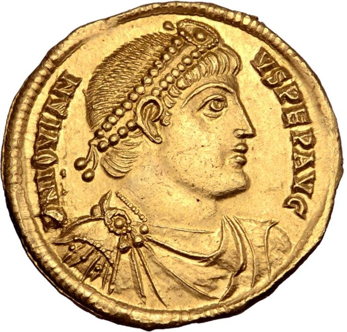 Empire romain - Solidus - Jovian. Antioch, 27 June AD 363 - 16 February 364. SECVRITAS REI PVBLICAE. - Or