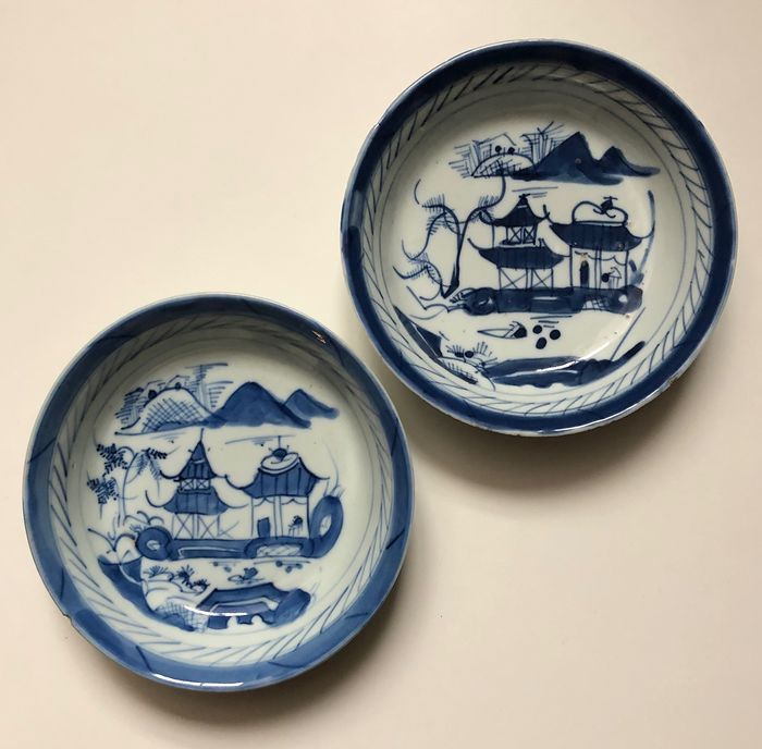 Plates (2) - Porcelain - China - 19th century