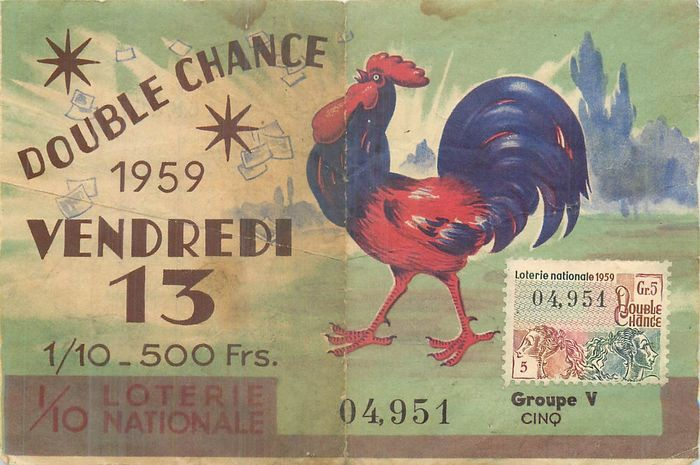 France - National Lottery Tickets 1936 / 1967