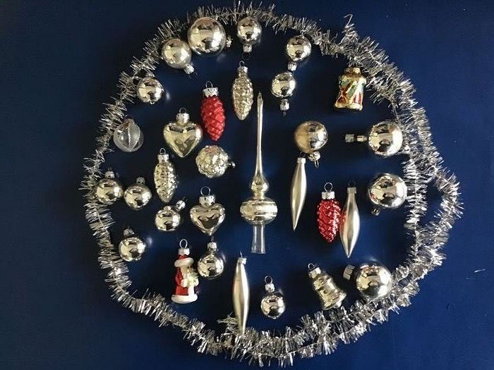 antique, vintage, special Christmas balls & peak (small size) (31) - Glass