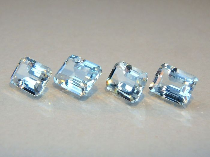 4 pcs  - No reserve - Aquamarines - 3.52 ct