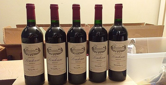 1995 Chateau Loudenne - Medoc Cru Bourgeois - 5 Bottles (0.75L)