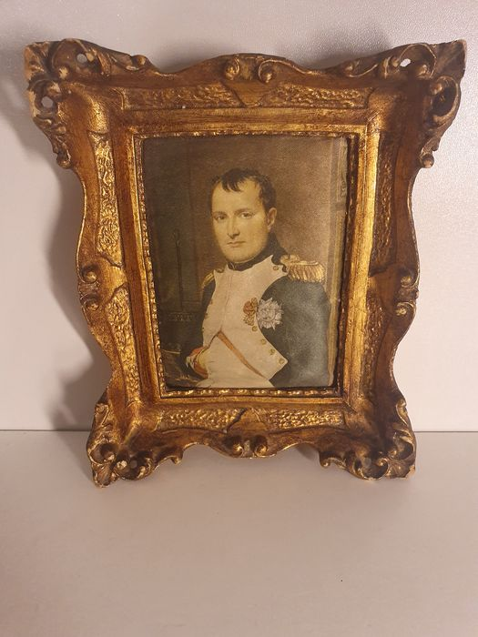 Miniature of Napoleon Bonaparte - golden fabric and wood
