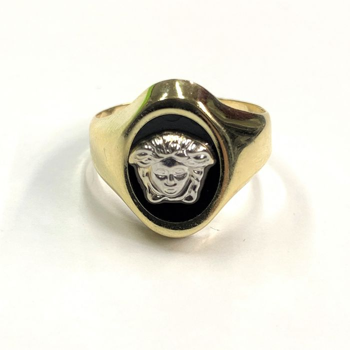 14 kt. Yellow gold - Ring Onyx