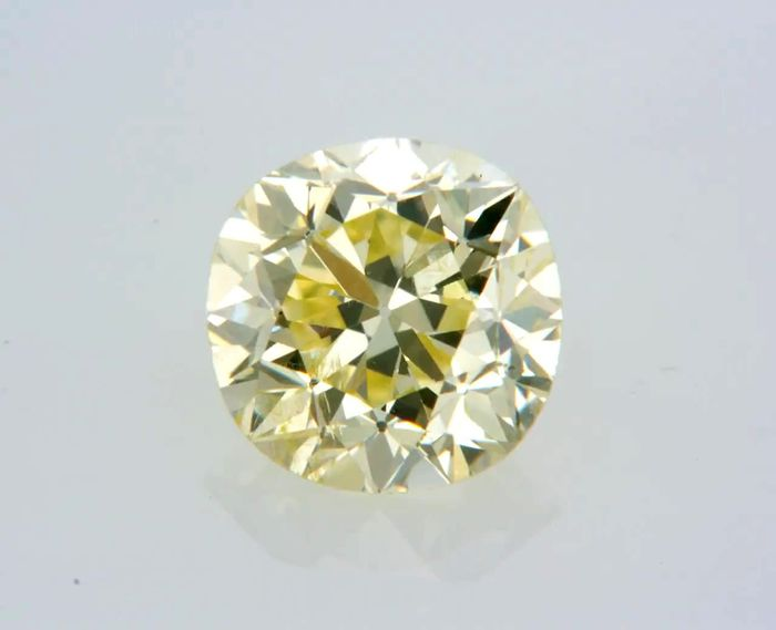 1 pcs Diamant - 0.81 ct - Rond - fancy yellow - SI1