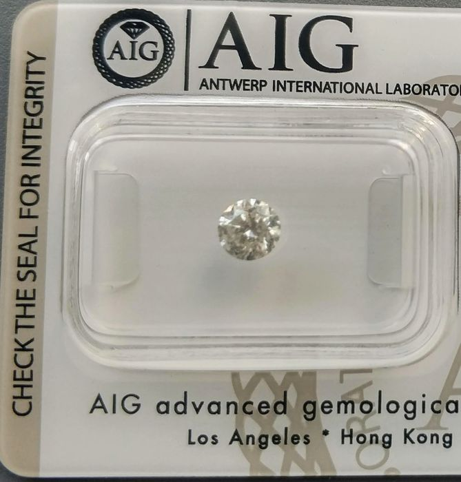 1 pcs Diamond - 0.45 ct - Round - I - I2 - NO RESERVE PRICE
