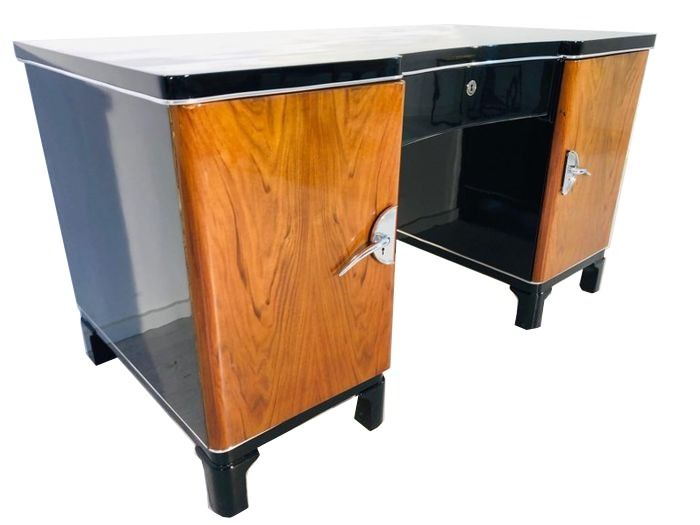 Two-tone Art Deco desk from France 1930s