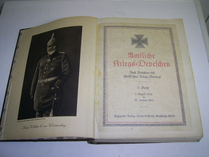 Germany - Book, Official War Dispatches V.Band - 1916