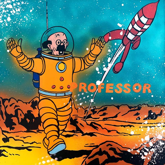 Alvin Silvrants - Tin Tin on the Moon professor Tryphon Tournesol 4/4