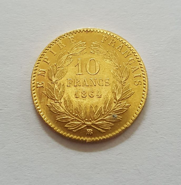 10 Francs 1864-BB Napoléon III - Or