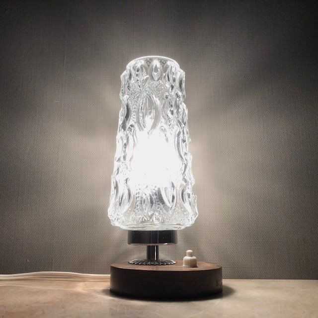 Vintage table lamp - Glass, Wood