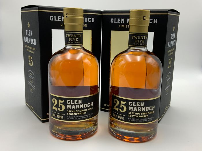 Glen Marnoch 25 years old Speyside Limited Edition 2019 Christmas Release - 70cl - 2 bottles