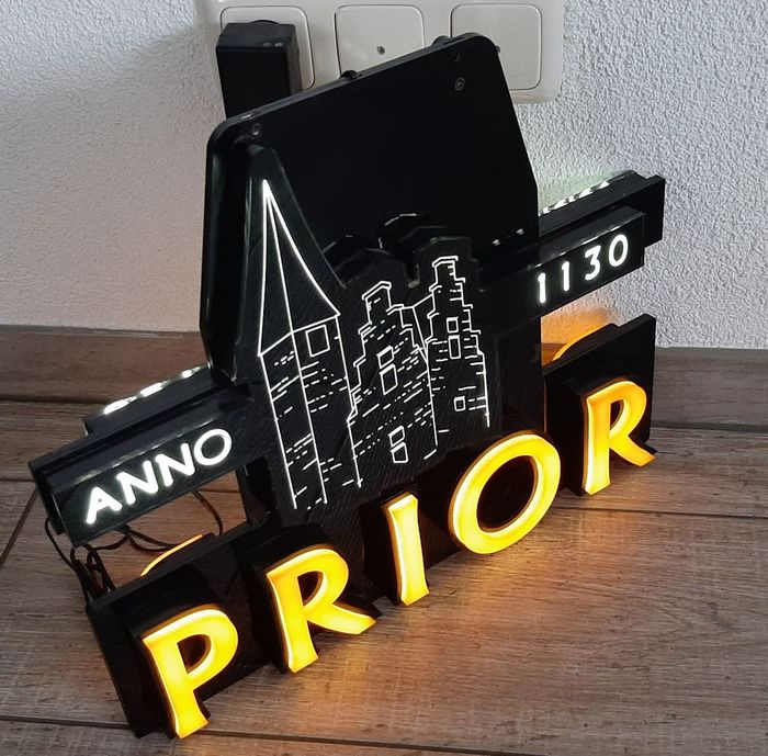 Prior Bier light box 2 sides sign double sided leuchtreklame neon sign (1) - Plastic