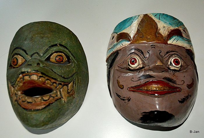 Topèng mask (2) - Wood - East-Java, Indonesia